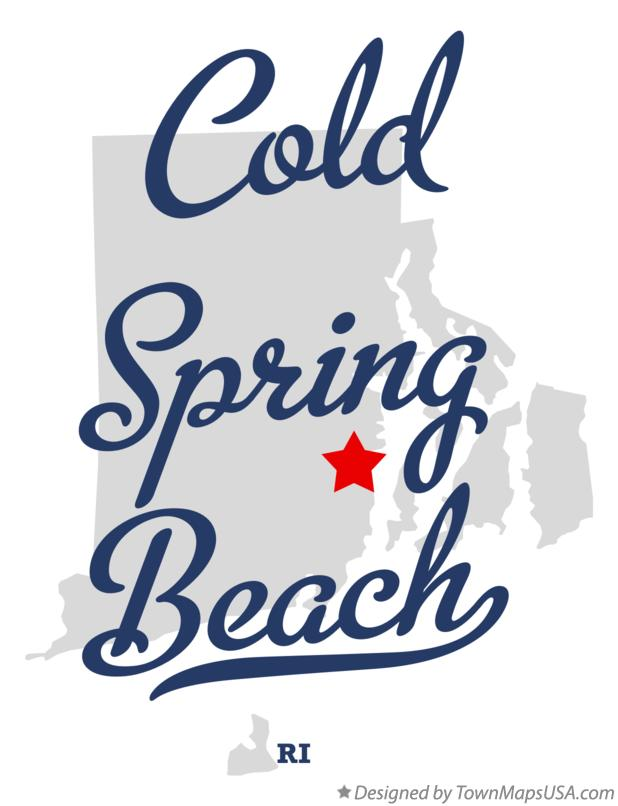 Map of Cold Spring Beach Rhode Island RI