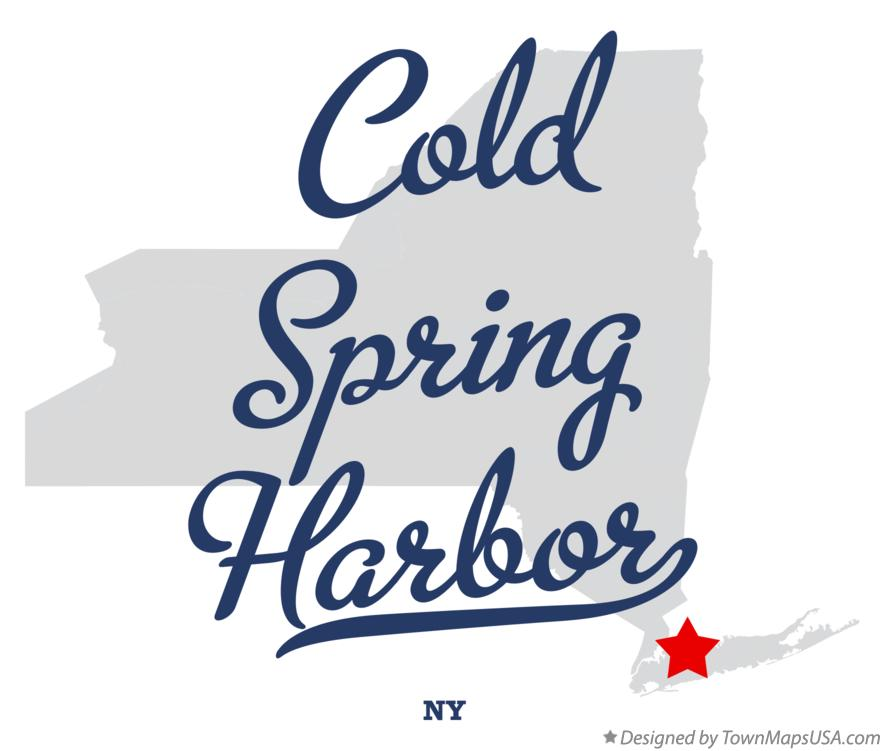 Map of Cold Spring Harbor New York NY