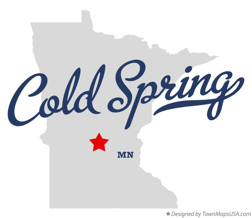 Map of Cold Spring Minnesota MN