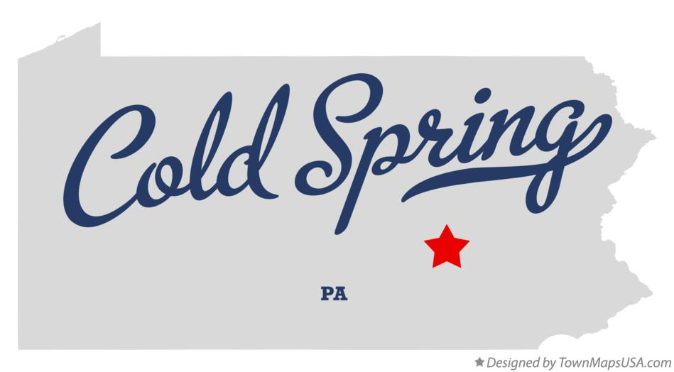 Map of Cold Spring Pennsylvania PA