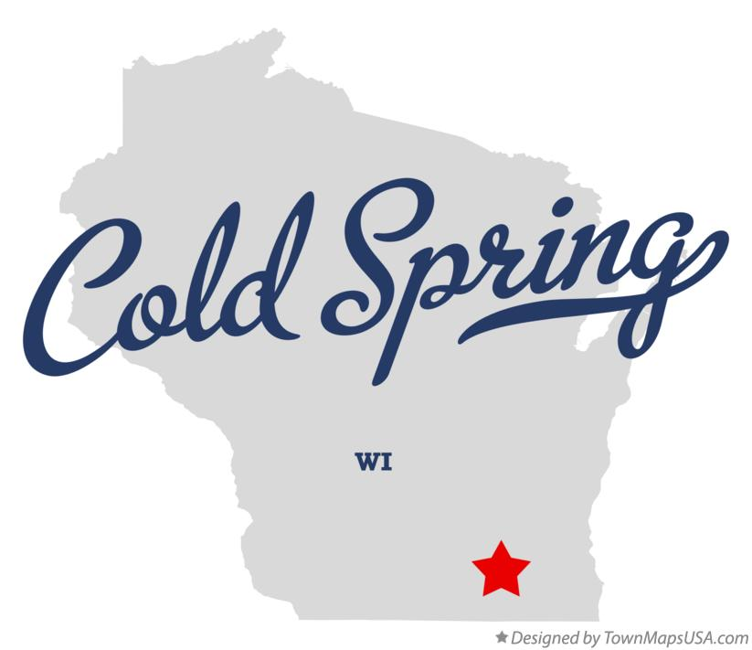 Map of Cold Spring Wisconsin WI