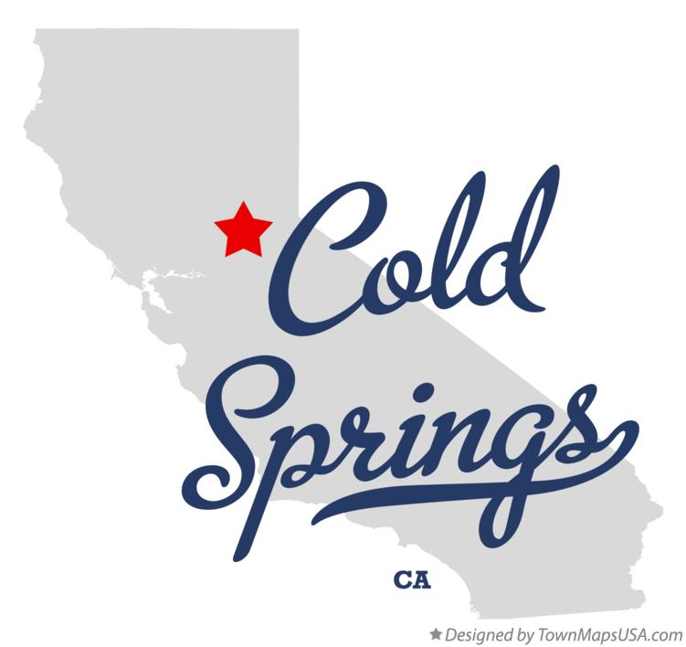 Map of Cold Springs California CA