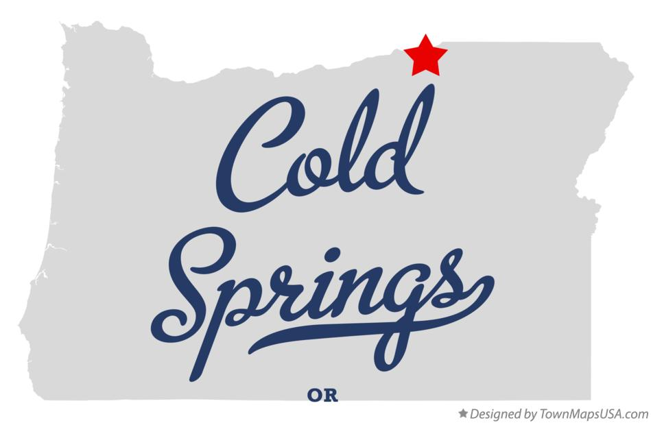 Map of Cold Springs Oregon OR