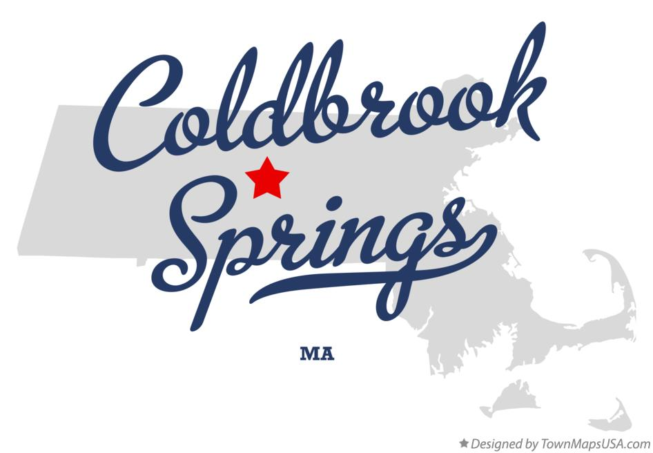 Map of Coldbrook Springs Massachusetts MA