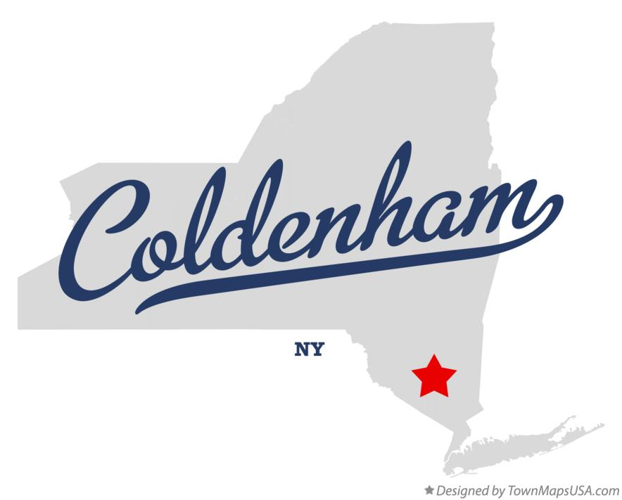 Map of Coldenham New York NY