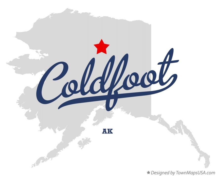 Map of Coldfoot Alaska AK