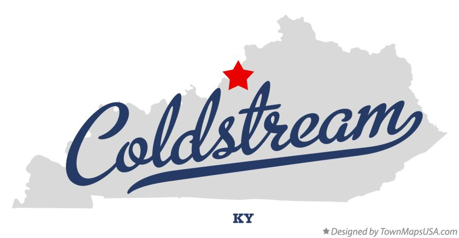 Map of Coldstream Kentucky KY
