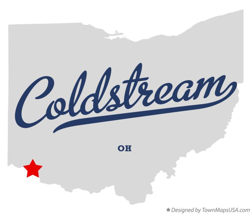 Map of Coldstream Ohio OH