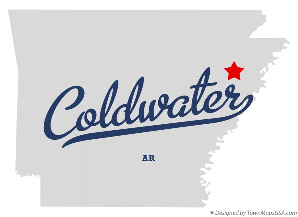 Map of Coldwater Arkansas AR