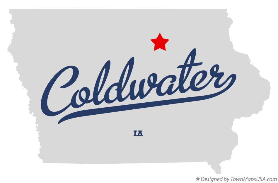Map of Coldwater Iowa IA