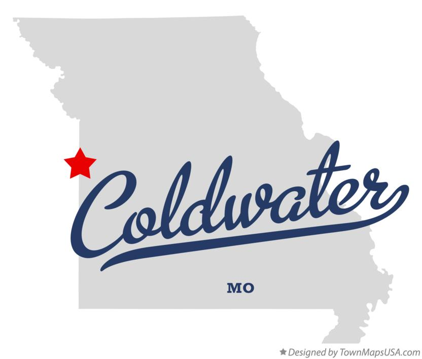 Map of Coldwater Missouri MO