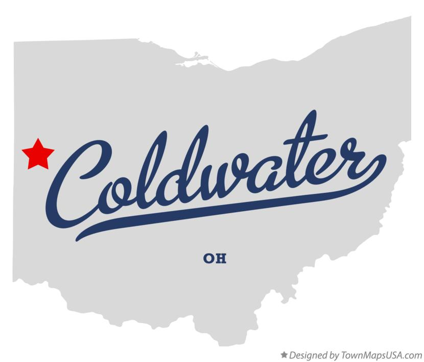 Map of Coldwater Ohio OH