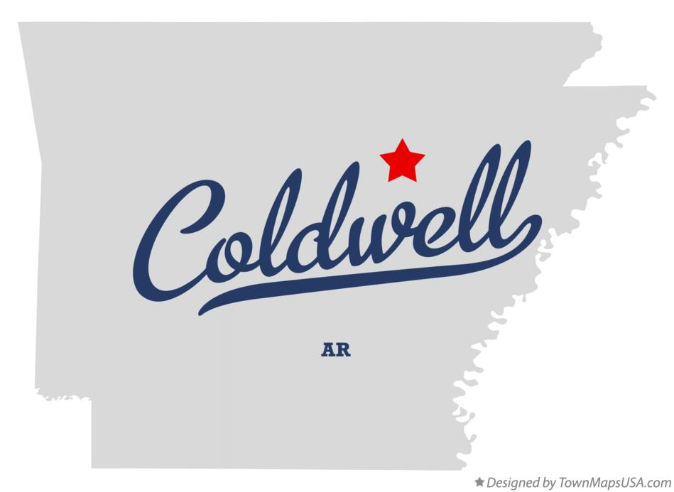 Map of Coldwell Arkansas AR