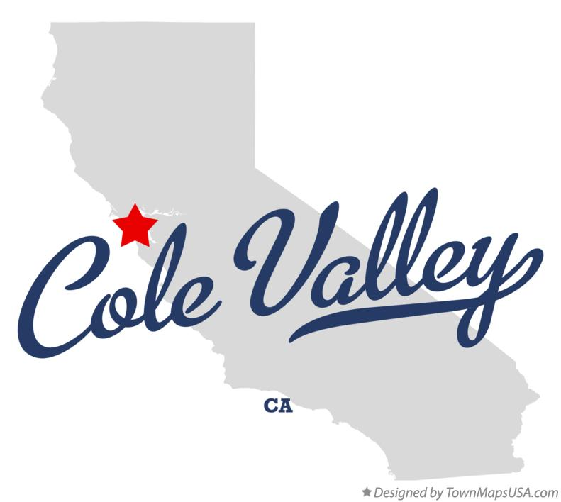 Map of Cole Valley California CA