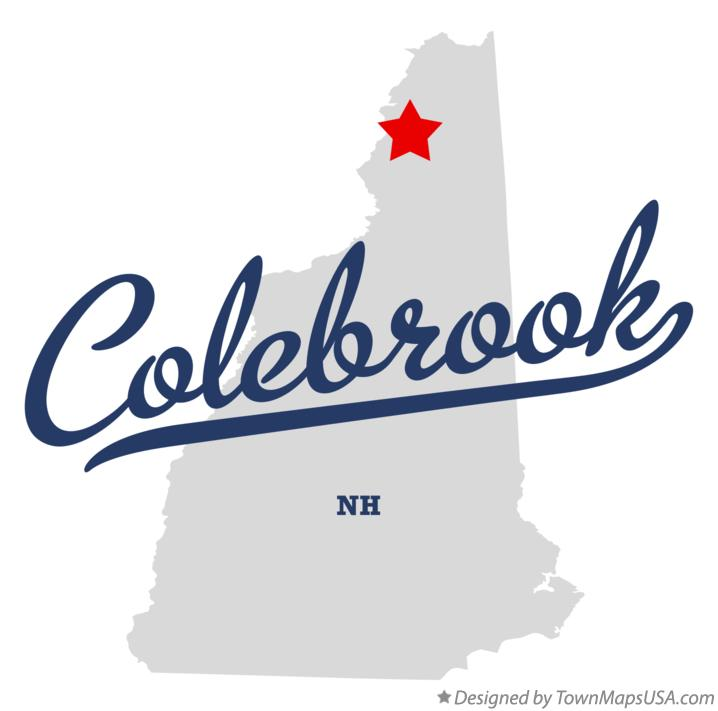 Map of Colebrook New Hampshire NH