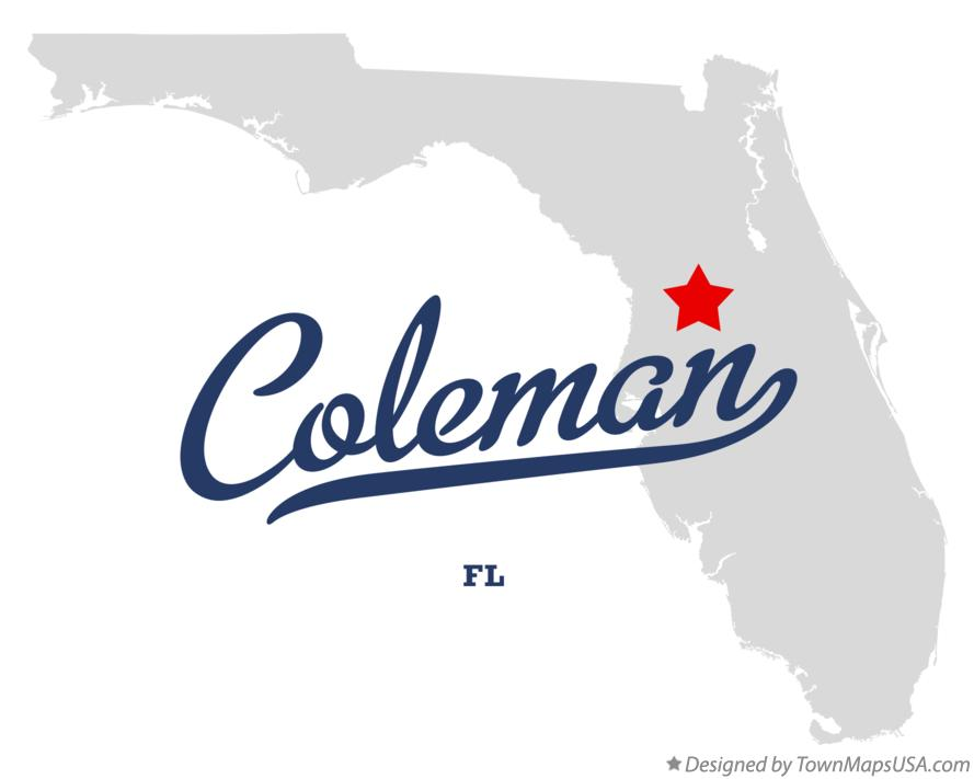 Map of Coleman Florida FL