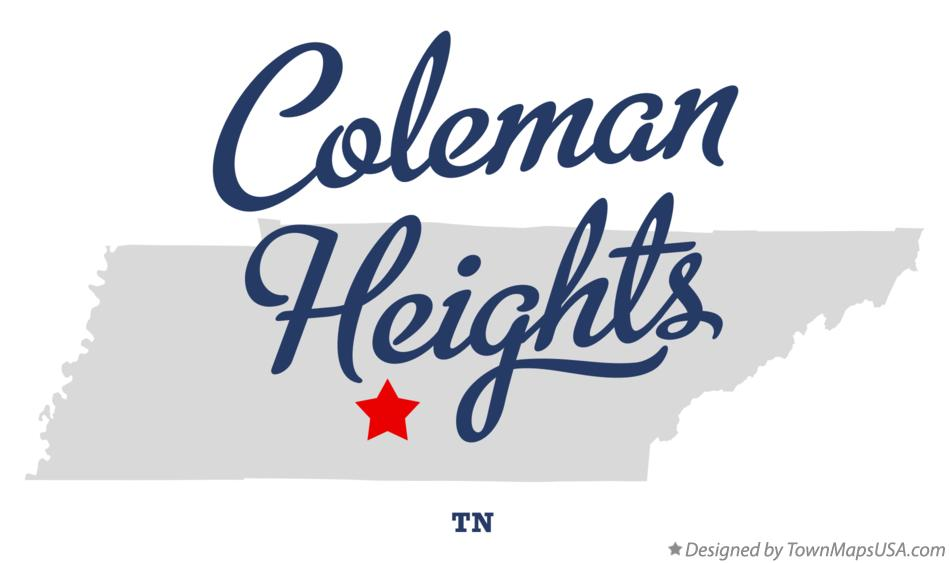 Map of Coleman Heights Tennessee TN