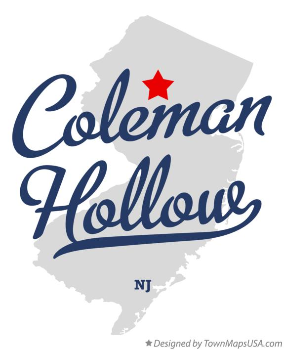 Map of Coleman Hollow New Jersey NJ