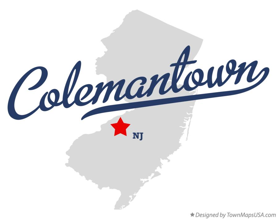 Map of Colemantown New Jersey NJ