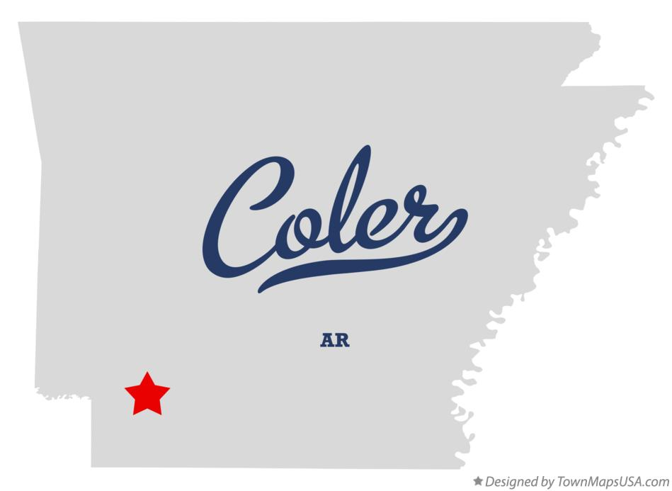 Map of Coler Arkansas AR