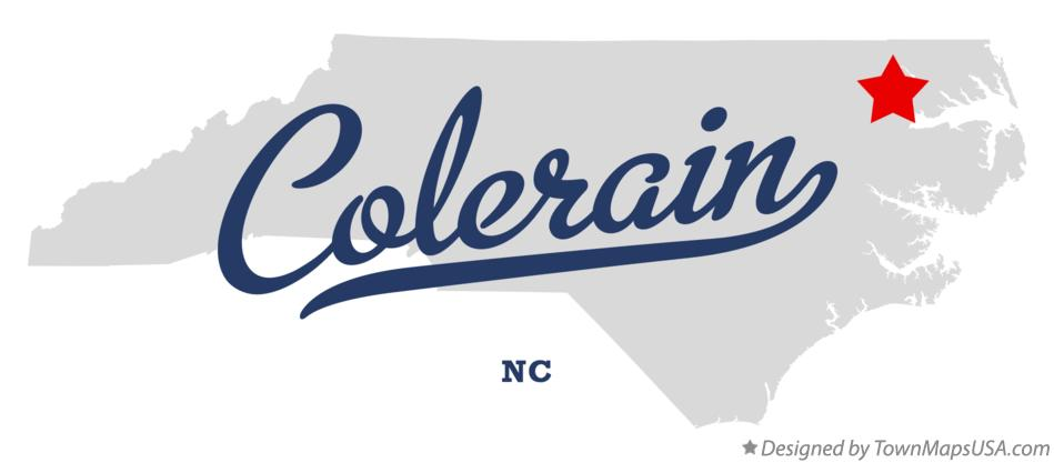 Map of Colerain North Carolina NC