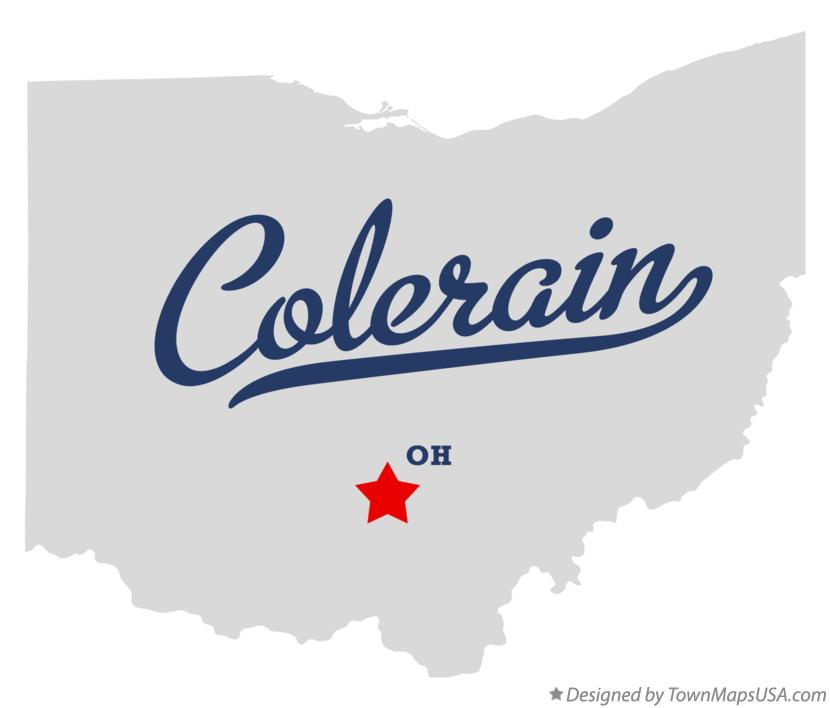 Map of Colerain Ohio OH