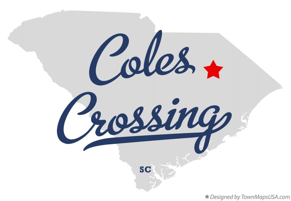 Map of Coles Crossing South Carolina SC
