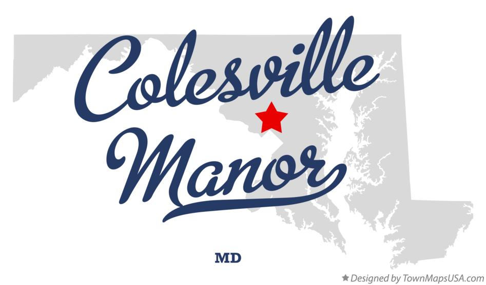 Map of Colesville Manor Maryland MD