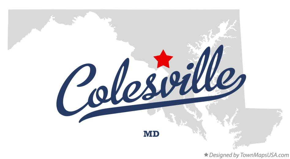 Map of Colesville Maryland MD