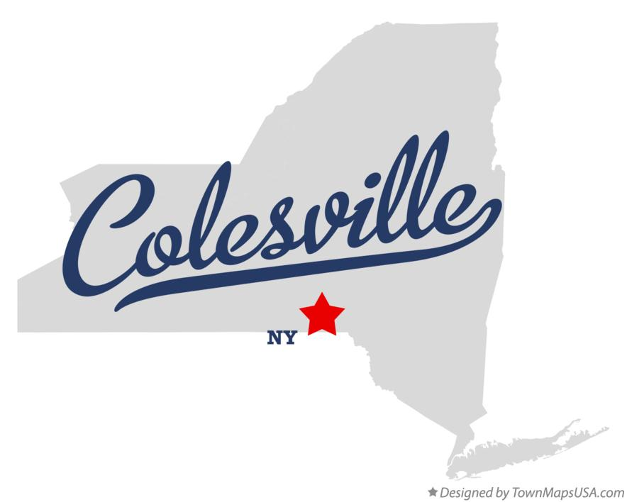 Map of Colesville New York NY