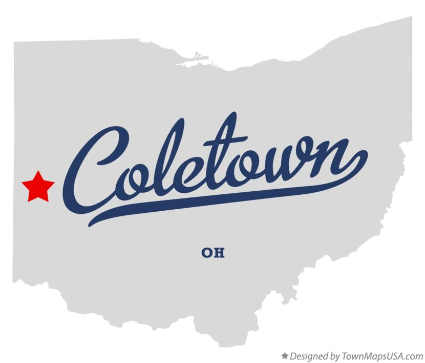 Map of Coletown Ohio OH