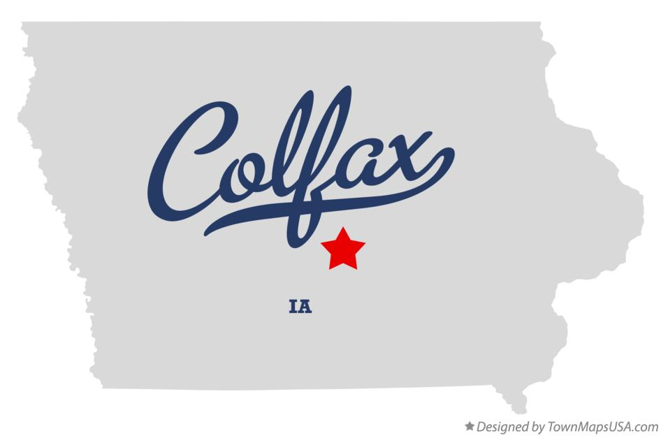 Map of Colfax Iowa IA