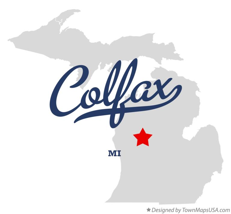 Map of Colfax Michigan MI