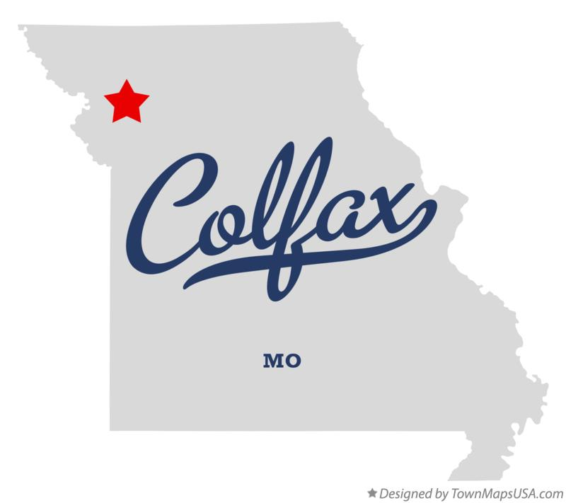 Map of Colfax Missouri MO