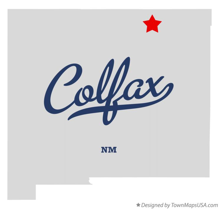 Map of Colfax New Mexico NM