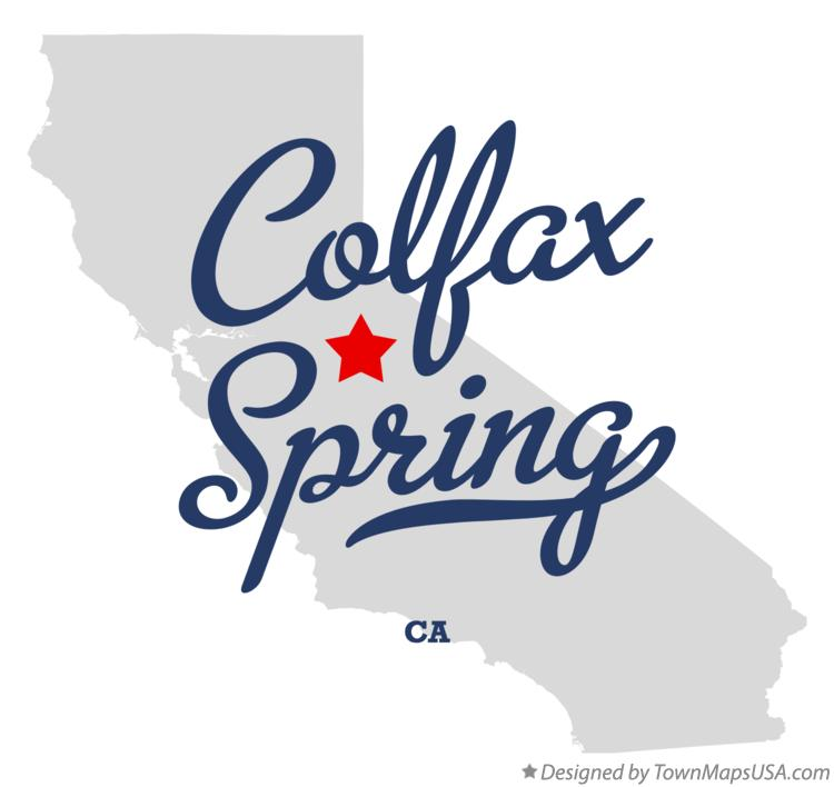 Map of Colfax Spring California CA