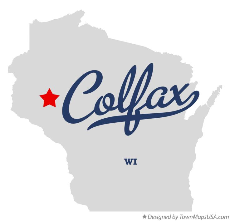 Map of Colfax, WI, Wisconsin
