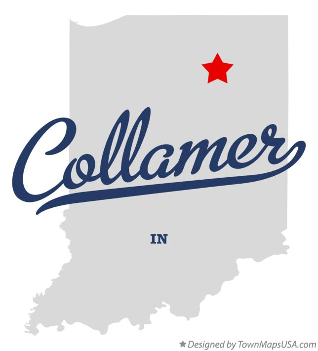 Map of Collamer Indiana IN
