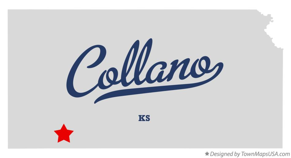 Map of Collano Kansas KS