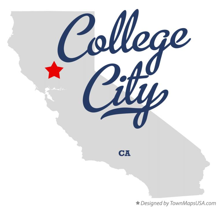 Map of College City California CA