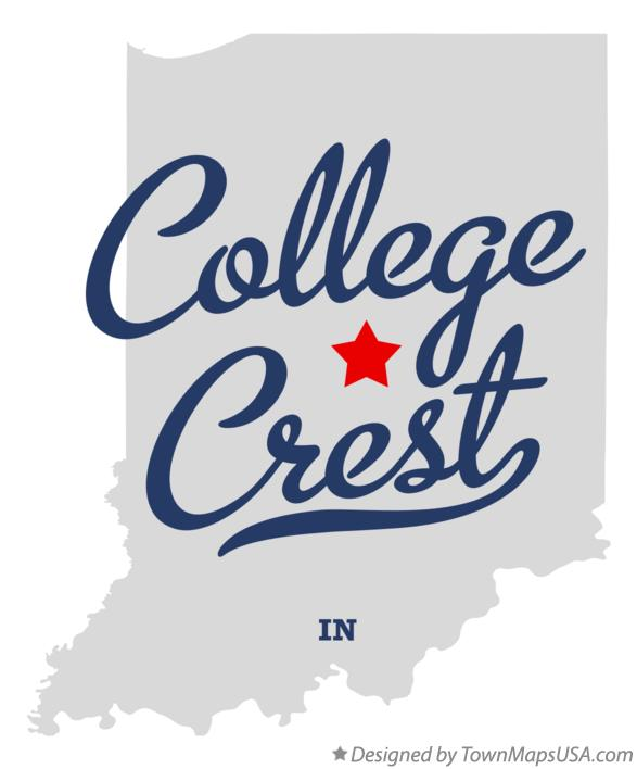 Map of College Crest Indiana IN