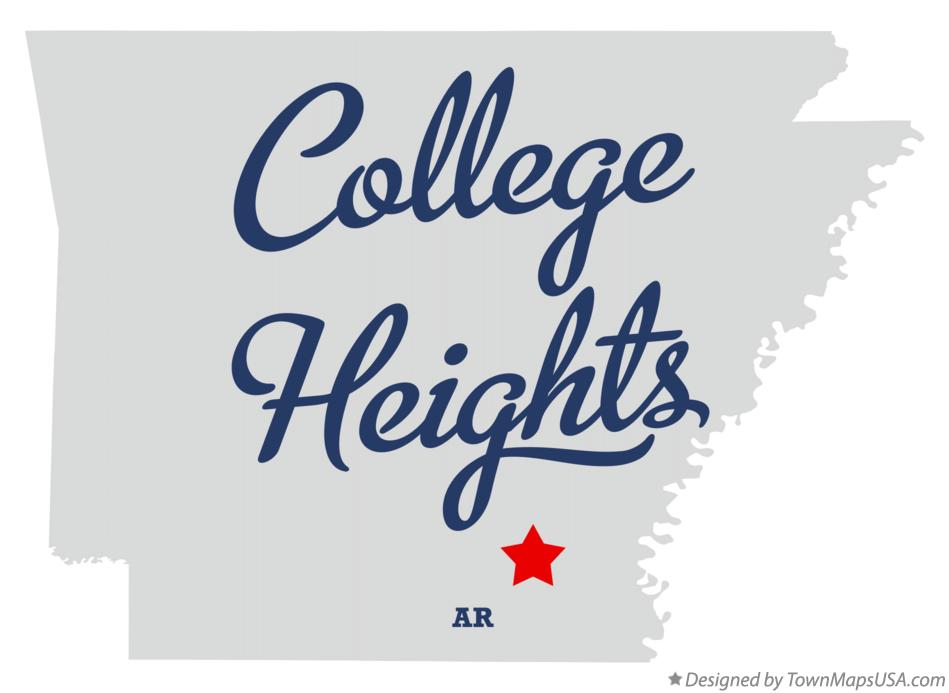 Map of College Heights Arkansas AR