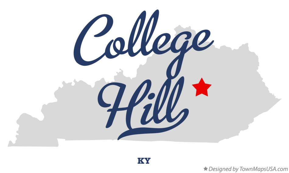 Map of College Hill Kentucky KY