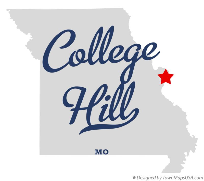 Map of College Hill Missouri MO
