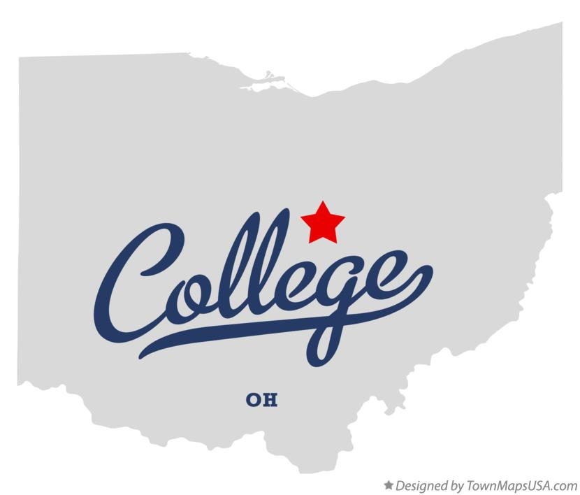 Map of College Ohio OH