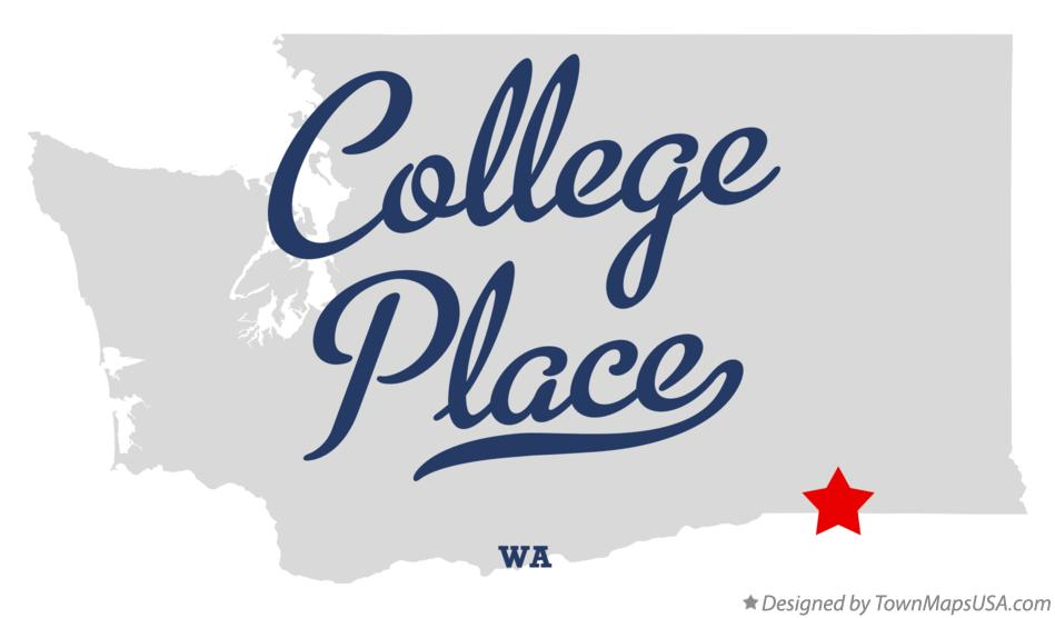 Map of College Place Washington WA