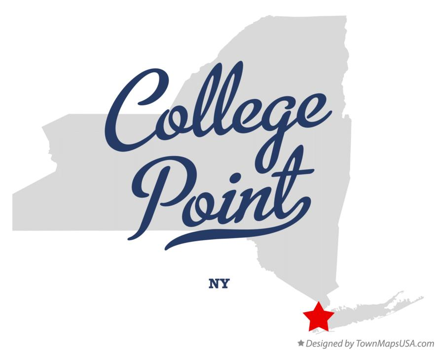 Map of College Point New York NY