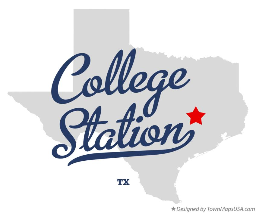 Map of College Station Texas TX