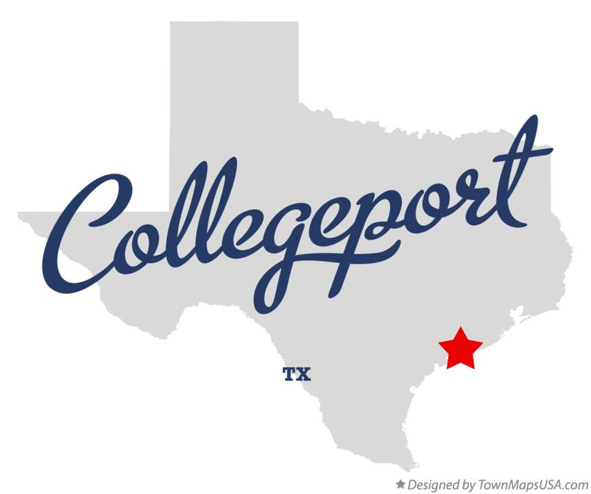 Map of Collegeport Texas TX