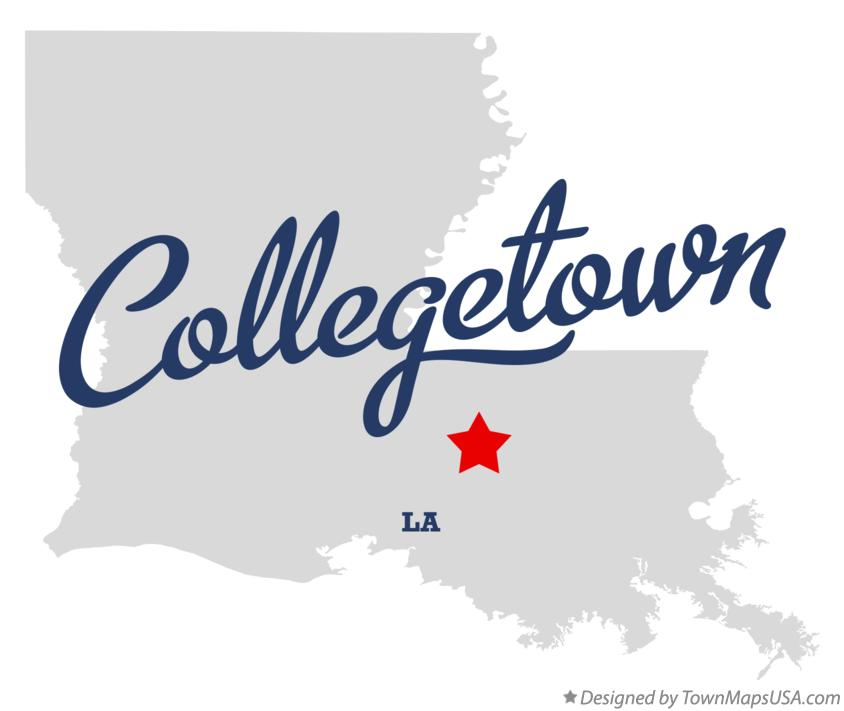 Map of Collegetown Louisiana LA